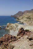 The wild coastline of Cabo the Gata, in Andalusia. Royalty Free Stock Photos