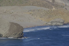The wild coastline of Cabo the Gata, in Andalusia. Stock Photography