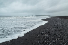 Wild coastline in South Iceland. Wild coastline with black beach in South Iceland Royalty Free Stock Photography