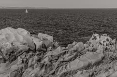 Wild coastline, Testa Cape, Sardinia Stock Photo