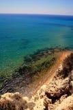 Wild Coastline, Transparent Crystalline Sea Water Stock Photos