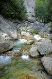 Wild creek. Creek in the wild south France Royalty Free Stock Photography