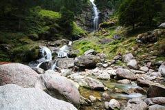 Wild creek in Switzerland. Wild creek in Swiss mountain at the beginning of Verzasca valley stock image