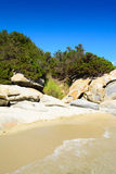 Wild creek in tropical sea Royalty Free Stock Photos