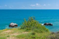 Wild Crimean landscape in Cape Martyan Reserve Stock Image