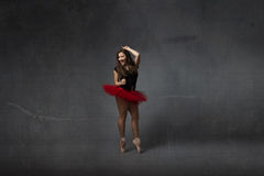 Wild dance for a classcial ballerina stock image