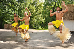 Wild Dancers From Chile. Rapa Nui Royalty Free Stock Image