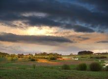 Wild de lentelandschap Royalty-vrije Stock Foto