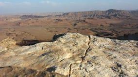 Wild desert landscape of Makhtesh Ramon Negev desert , Israel stock video