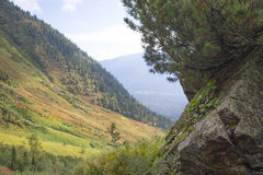 The wild and desolate mountains of the Khamar-Daban. Stock Photography