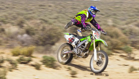 Wild Dirt Bike Racer Girl Royalty Free Stock Images