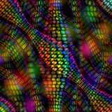 Wild disco diode background. Colorful LED and lights on black area. Stock Photo