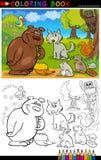 Wild djur för färgläggning stock illustrationer