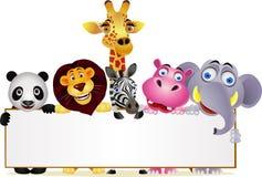 wild djur tecknad film Royaltyfri Bild