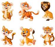 wild djur tecknad film stock illustrationer