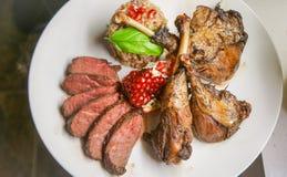 Wild Duck Dinner Plate Royalty-vrije Stock Afbeeldingen