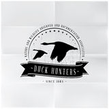 Wild Duck Hunters Badge Royalty Free Stock Image