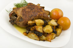 Wild duck roasted whole Stock Photography