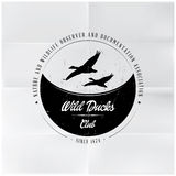 Wild Ducks Club Badge Stock Photos