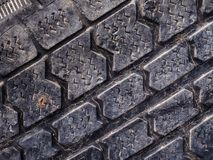 Wild dump of old tires royalty free stock photo