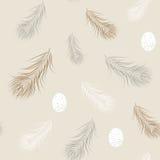 Wild eieren en veren naadloos patroon naughty vector illustratie