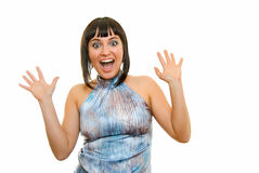 Wild enthusiasm Stock Photo