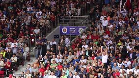 Wild Fans at Sporting Event stock video footage