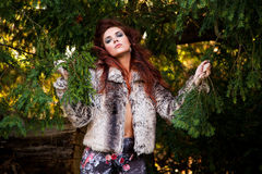 Wild Fashion Outdoor Shots Royalty Free Stock Photography
