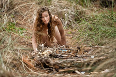 Wild female in the Forest Stock Photography