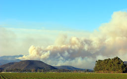 Wild fire in Point Mugu Mountains, CA Stock Image