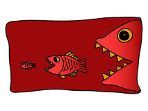 Wild fish hunter Stock Image