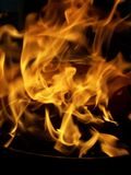 Wild flames. This shotis the result of the first BBQ-evening this year Royalty Free Stock Photo