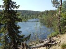 Wild flod Arkivfoto