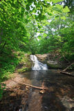 Wild flodvattenfall (Kravtsovka) Royaltyfri Fotografi