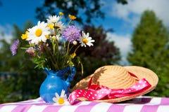 Wild flower bouquet Stock Images