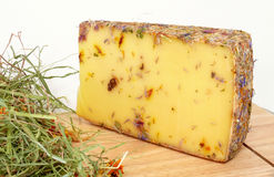 Wild flower cheese Stock Photo