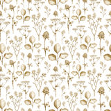 Wild flower drawings. Seamless pattern Royalty Free Illustration