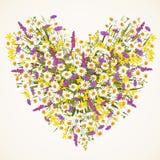 Wild flower heart Stock Photos