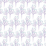 Wild flower spring field seamless pattern. Wild flower purple branch spring field seamless pattern. Floral tender fine summer vector pattern on white background Royalty Free Stock Photo