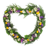 Wild Flower Wreath Stock Photo