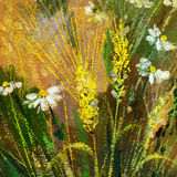 Wild flowers. Background drawing of wild flowers Royalty Free Stock Image