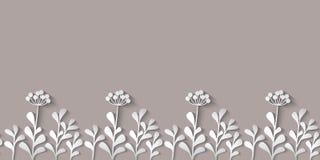 Wild flowers pattern Stock Image