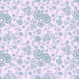 Wild flowers seamless pattern. Background in pastel tones. Vector illustration Stock Photography