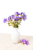 Wild flowers in a vase Stock Photo