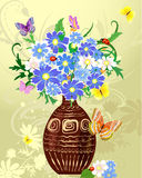Wild flowers in a vase Stock Image