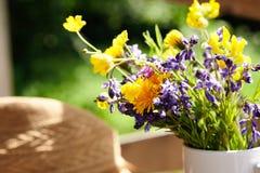 Wild flowers in vase Stock Image