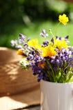 Wild flowers in vase Royalty Free Stock Photos