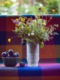 Wild flowers in vase Stock Photography
