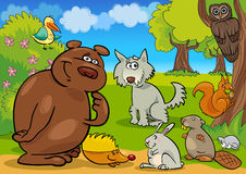 Wild forest animals stock illustration