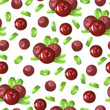 Wild forest cowberries pattern seamless Stock Photo